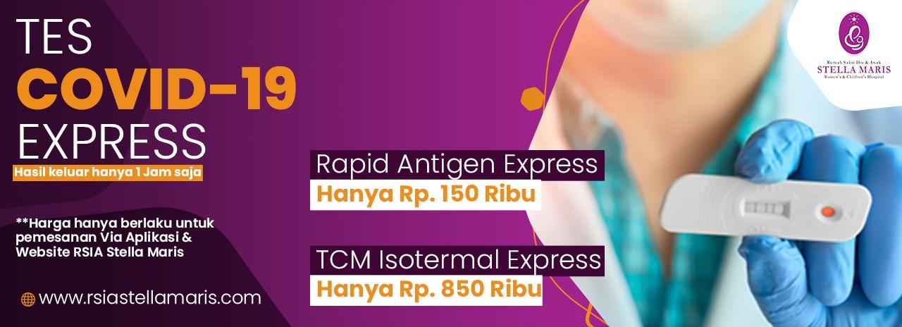 Tes Covid - RSIA di Kota Medan